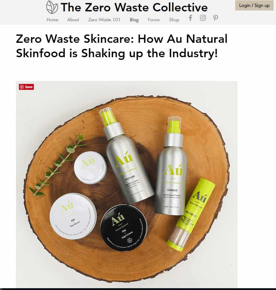 The Zero waste Collective Article - Au Natural Skinfood