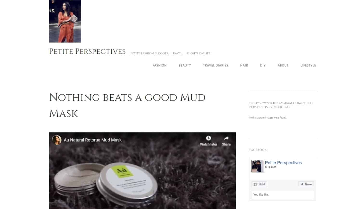 Petite Perspectives - Au Natural Skinfood Mud Masque Article