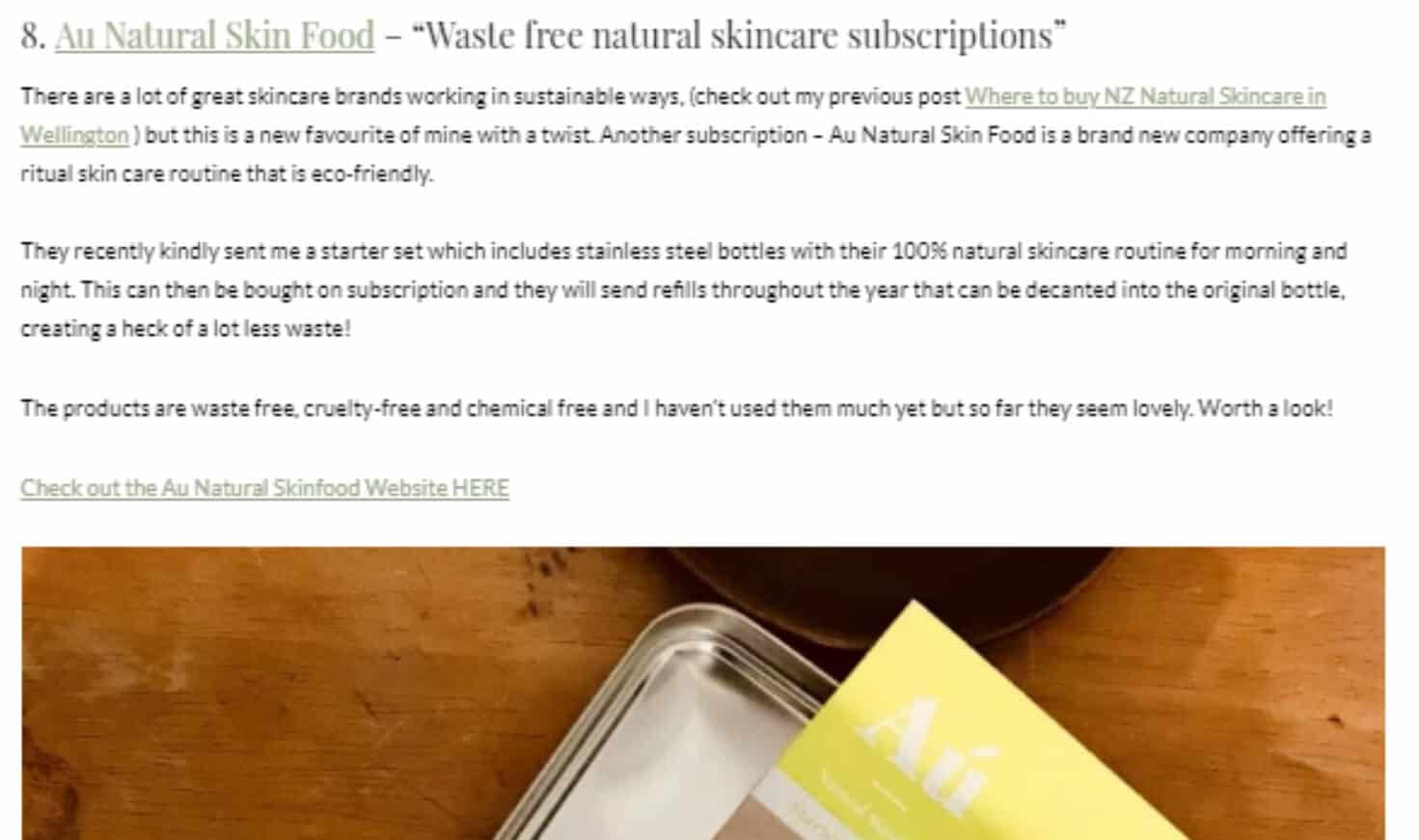 au Natural Skinfood - Lost in Silver Fern