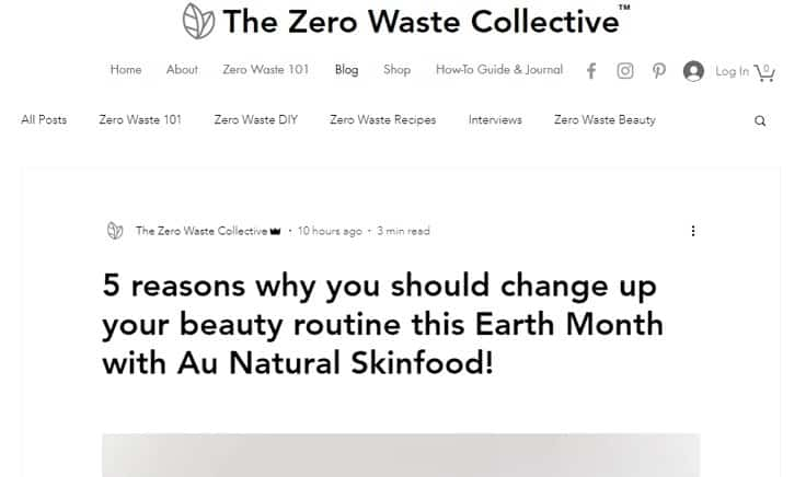Au Natural Skinfood The Zero Waste Collective