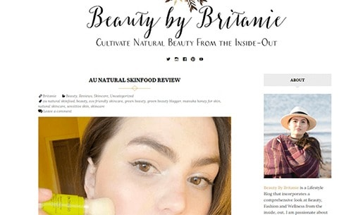 Au Natural Skinfood - Article by Beauty By Britanie - Review