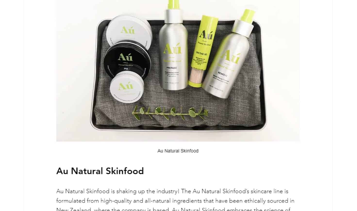 The Zero Waste COllective - Au Natural Skinfood - Gift Guide